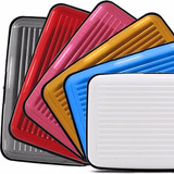 24 Un Porta Cartão Credito Visita Em Aluminio Frete Grátis
