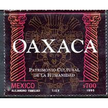 Timbre Postal Oaxaca Patrimonio Cul De La Humanidmexico 1990