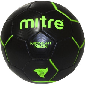 Mitre Negro Y Verde De Neón De La Medianoche Del Balón De Fú