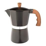 Cafetera Aluminio Esmaltado Negro Tipo Italiana Induccion 9