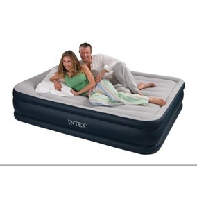 Colchon Cama Inflable Ultra Queen Sommier Intex 2 1/2 Plazas