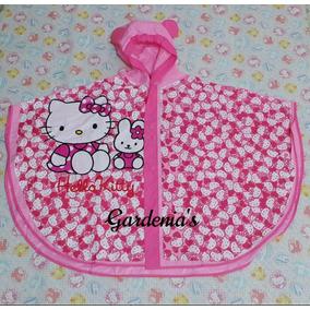 Poncho Impermeable Infantil De Niña Hello Kitty