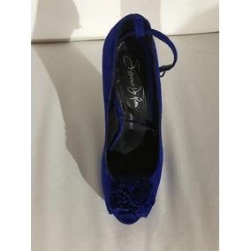 Zapato Azul Mujer