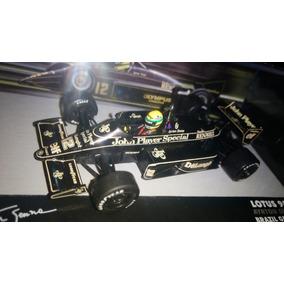 Ayrton Senna - Lotus Gp Brasil 1986 - 1:43 - Adesivada Jps