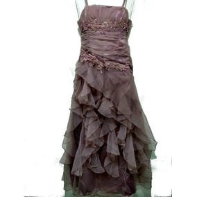 Vestido Longo Drapeado Festa Formatura Casamento Madrinha