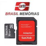 Frete 7,00 Micro Sd 32gb + Adaptador Mini Cartão Memória