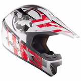 Casco Ls2 Mx 433 Cross Stripe Rojo Motocross Enduro Atv Fas