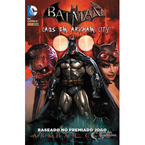 Panini Batman - Caos Em Arkham City 1 Ao 4 Série Completa