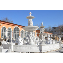 Fonte Escultura De Jardim Em Mármore Carrara