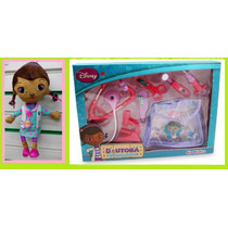 Boneca + Maleta Médica Da Doutora Brinquedos Disney