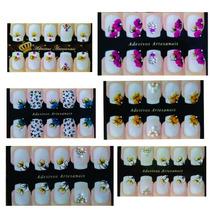 Kit 20 Cartelas Adesivos Artesanais Unha, Esmalte, Beleza