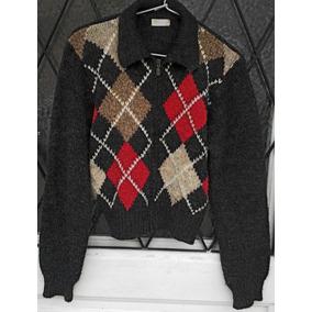 f17db046d8a64 Saco Sweater Campera De Lana Mujer Rombos Gris Rojo S M