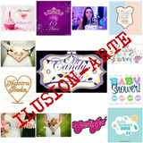 Candy Bar+ Baby Shower+ Tarjetas 15+ Frases Subliminar Tazas