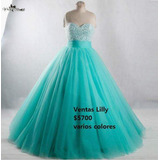 Hermoso Vestido De Xv Color Aqua.
