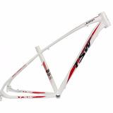 Quadro Tsw Jump Aro 27,5 Branco Verm Alum Bike Mtb Tam 17