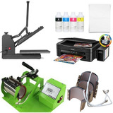 Combo Sublimadora Digital 7 En 1 + Epson A4 + Tinta + Papel