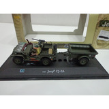 Jeep Willys Cj2 Segunda Guerra Con Figuras 1/43 Cararama