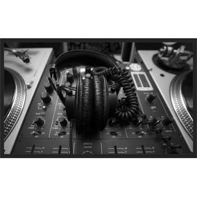 Quadro Decorativo Música Mesa De Som Produtor Dj Decoraração