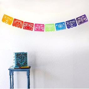 Banderines Mexicanos De Tela - Rectangular Interior Exterior