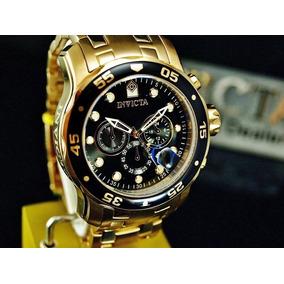 8aa278eebc0 Relógio Invicta Pro Diver 0072 Original Masculino Dourado