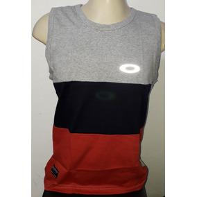4710cd6a44 ... Preta por Back Wash · Camisa Regata Oakley Brilha No Escuro Olho De Gato