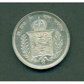 Moneda Brasil 500 Reis 1859 Plata