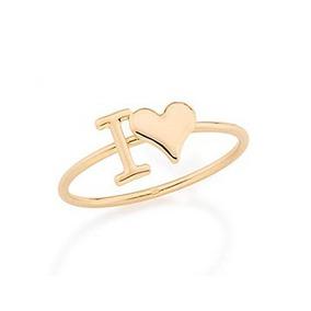 Anel Rommanel Skinny Ring Namorados Descrição I Love 512206