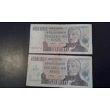 Dos Billete De 50.000 Pesos San Martín Impecables! Oferta!