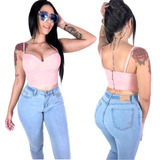 Calça Jeans Azul Claro Delavê Planet Girls