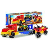 Juguetes Camion Transporte Con Cuatriciclos Duravit 229