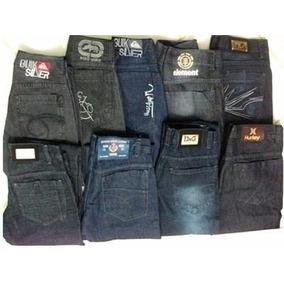 Kit C/5 Calças Jeans Várias Marcas Masculina Frete Grátis