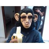 Mascara Halloween De Mono Mico Chimpance En Latex + Envío