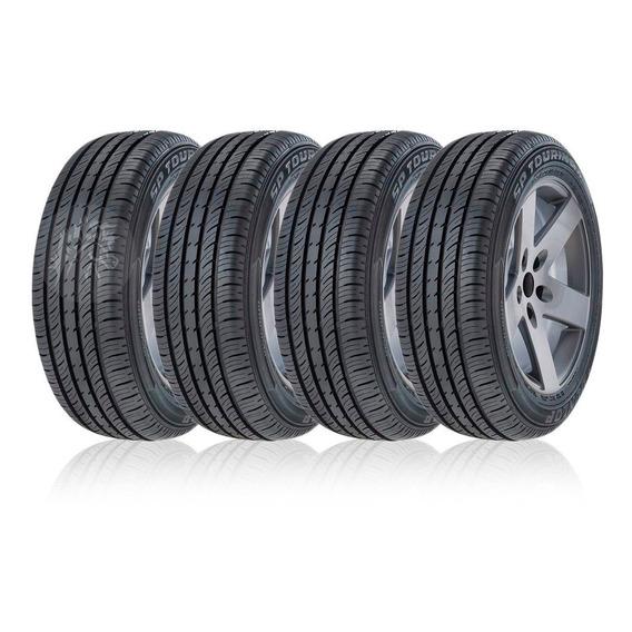 Kit 4 Neumaticos Dunlop 175 65 R14 Valvulas + Envio Cavalino