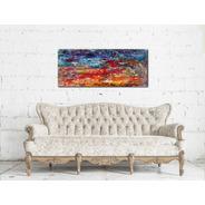 Cuadros Abstracto Impresos De 120x50cm. Respaldo Cama Sofa.