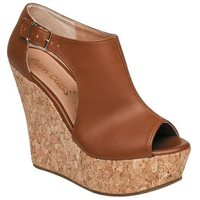 Zapatos Plataforma Dama Been Class Café 66579 100% Original