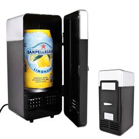 2 En 1 Mini Usb Refrigeradores Portátil Bebida Enfriador Ca