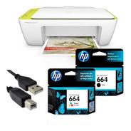 Impresora Hp 2135 + Cable Usb + Tinta 664 Negra Y Tricolor