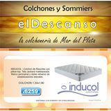 Colchon Resortes Inducol April Pillow 130x190 Mar Del Plata