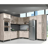 Cozinha Modulada Cbm Leticia 01 17 Portas E 4 Gavetas - Saar