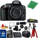 Nikon D5300 Body Only (negro) 32 Gb Tarjeta De Memoria Case