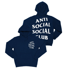 Sudadera Hoodie Antisocial Social Club Negro-gris-rojo-azul