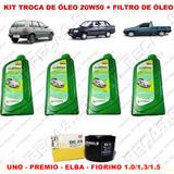Kit Troca Óleo Lubrax 20w50 Uno - Premio - Elba - Fiorino