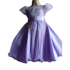 Vestido Princesa Sofia Lilás Infanto Juvenil