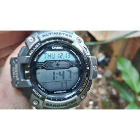 d3753411de0 Relogio Casio Sgw 400hd Aço Altimetro Termômetro Barômetro ...