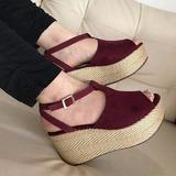 Sandalias De Moda Vinotinto Estilos Moda Calzado Colombia