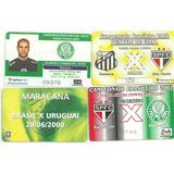 Quatro Ingressos Brasil X Uruguai 2000, E Outros Variados