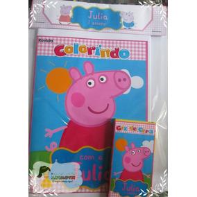 Kit Colorir Peppa Pig 2 Com Giz De Cera ( Artmovie)