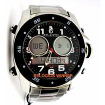 Relógio Atlantis Original Grand Reserve G3216 Caixa E Manual