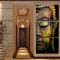 Juego Cuadros Decorativos Buda Listos Para Colgar