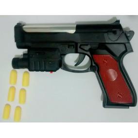Rifle Pistola Com Laiser Vermelho Dispara Balas Amarelas